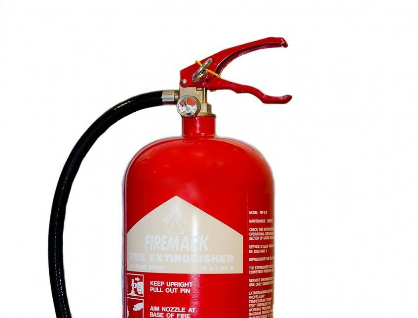 protección contra incendios extintor